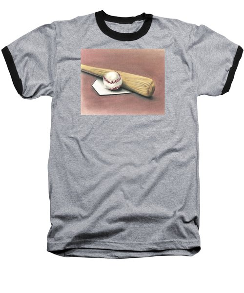 Baseball T-Shirt featuring the drawing Pastime by Troy Levesque