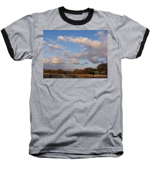 Pasture Clouds Baseball T-Shirt by Susan Williams