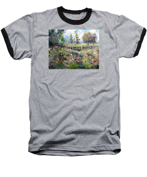 Pasture With Fence Baseball T-Shirt