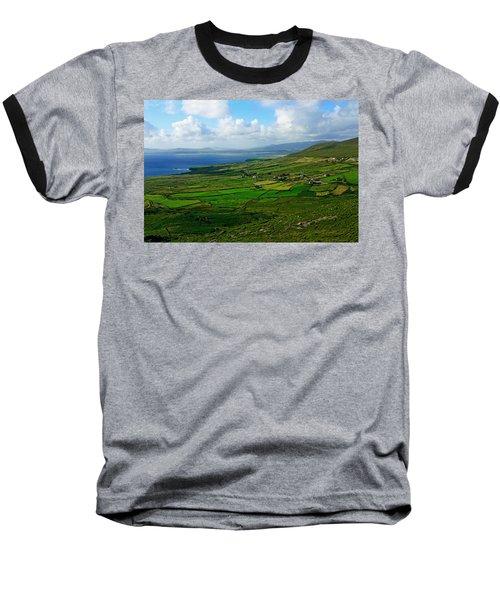 Patchwork Landscape Baseball T-Shirt by Aidan Moran