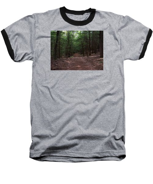 Path In The Woods Baseball T-Shirt by Catherine Gagne