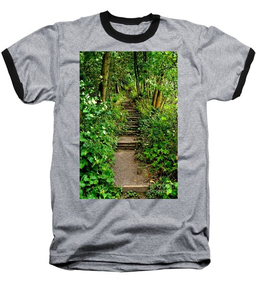 Path Into The Forest Baseball T-Shirt