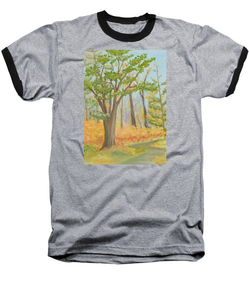 Path Of Trees Baseball T-Shirt