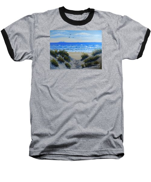 Path Through The Sand Dunes Baseball T-Shirt by Pamela  Meredith
