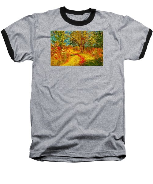 Path Through The Woods Baseball T-Shirt by William Beuther