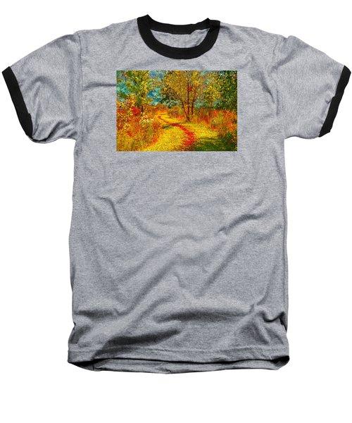 Path Through The Woods Baseball T-Shirt