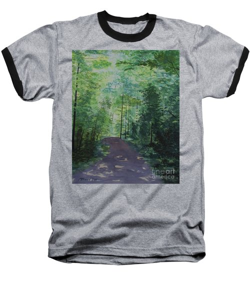 Path To The River Baseball T-Shirt by Martin Howard