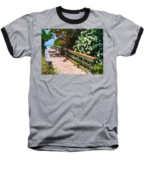Pathway To Beach Baseball T-Shirt