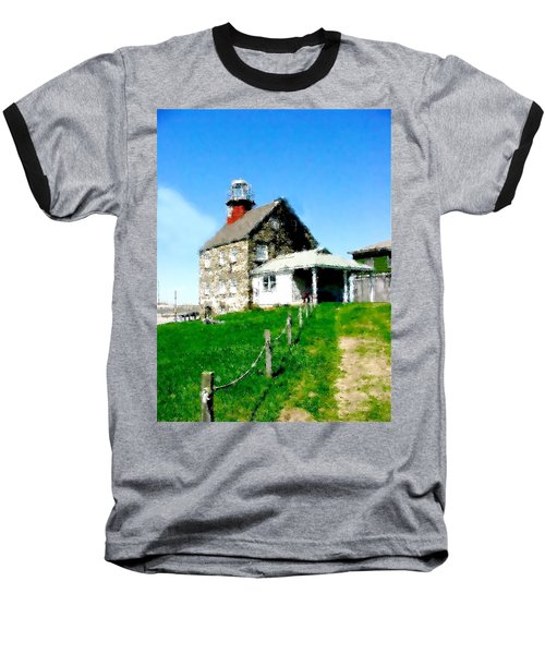 Baseball T-Shirt featuring the painting Pathway To Happiness  by Iconic Images Art Gallery David Pucciarelli