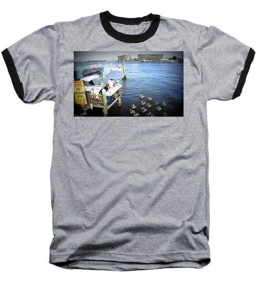 Baseball T-Shirt featuring the photograph Patiently Waiting by Laurie Perry