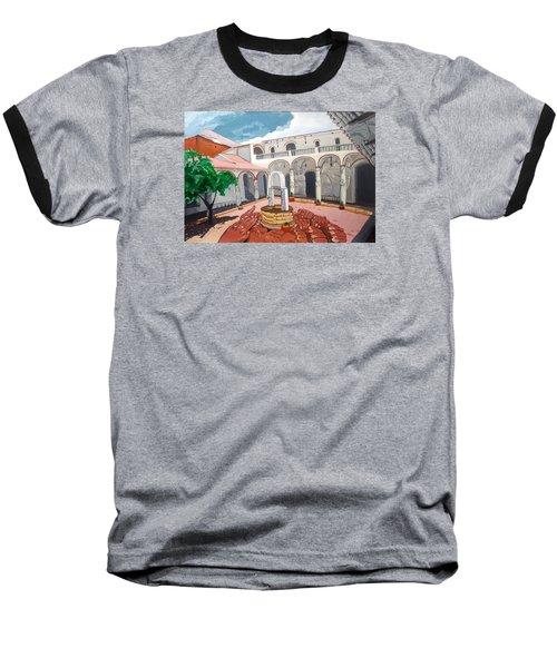 Patio Colonial Baseball T-Shirt by Lazaro Hurtado