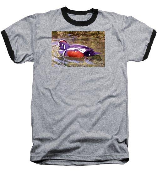 Patriot Duck Baseball T-Shirt by Susan Garren