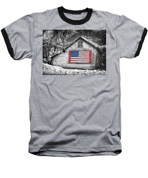 Patriotic American Shed Baseball T-Shirt
