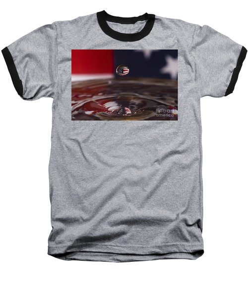 America Baseball T-Shirt by Anthony Sacco