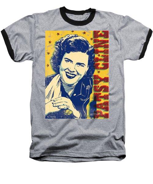 Patsy Cline Pop Art Baseball T-Shirt by Jim Zahniser