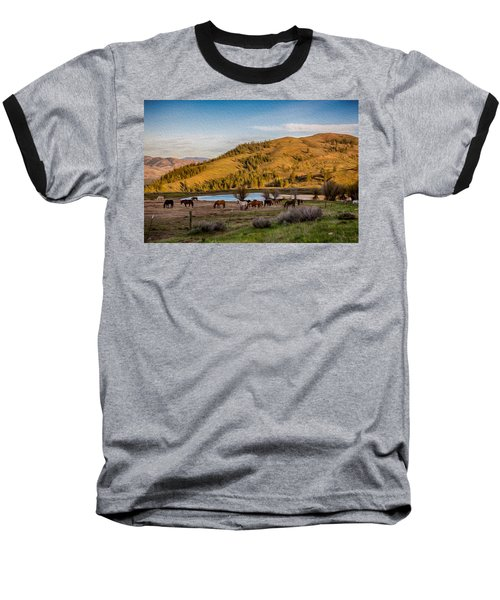 Patterson Mountain Afternoon View Baseball T-Shirt