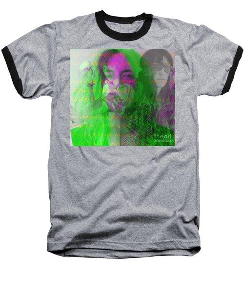 Patti Smith Dancing Barefoot Baseball T-Shirt by Elizabeth McTaggart
