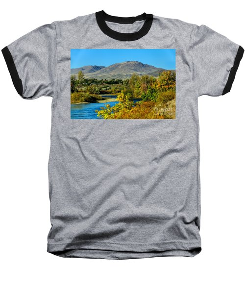 Payette River And Squaw Butte Baseball T-Shirt