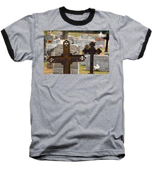 Paying Respect Baseball T-Shirt by Debi Demetrion