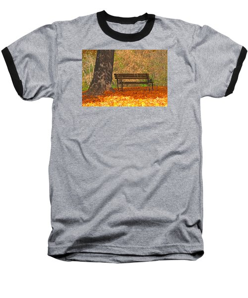 Baseball T-Shirt featuring the photograph Peace And Quiet by Geraldine DeBoer