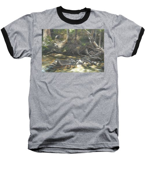 Baseball T-Shirt featuring the painting Peace At Darby by Lori Brackett