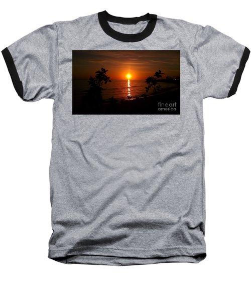 Peace At The Beach Baseball T-Shirt by Chris Tarpening