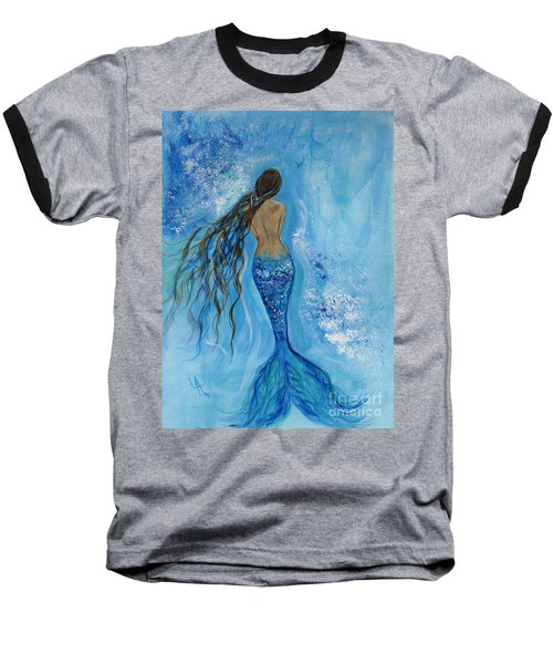 Peace Beneath Baseball T-Shirt by Leslie Allen