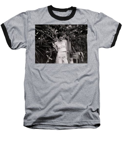 Baseball T-Shirt featuring the photograph Peace Chick by Greg Allore
