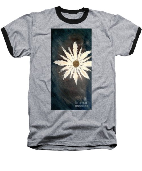 Baseball T-Shirt featuring the painting Peace Flower by Jacqueline McReynolds