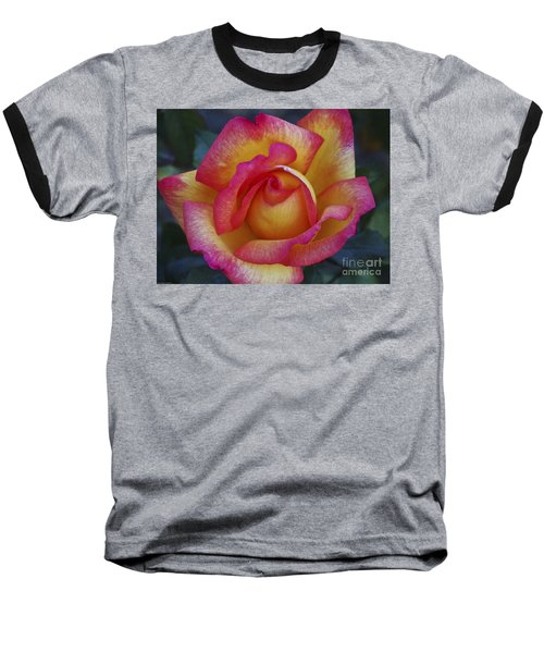 Peace In Floral Format Baseball T-Shirt by Kathy McClure