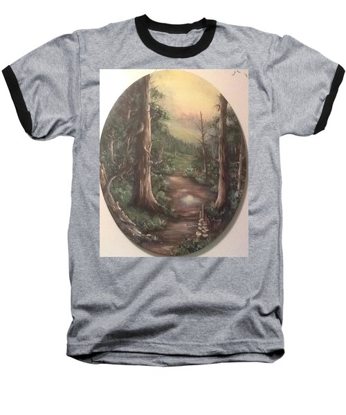 Baseball T-Shirt featuring the painting Peace Time by Megan Walsh
