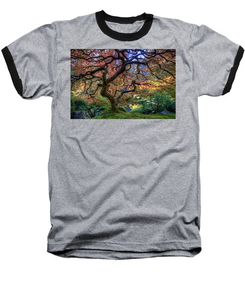 Peaceful Autumn Morning Baseball T-Shirt