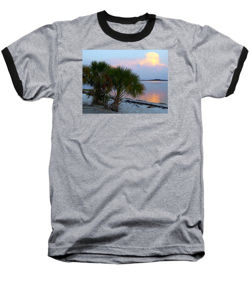 Peaceful Beach Sunrise Baseball T-Shirt