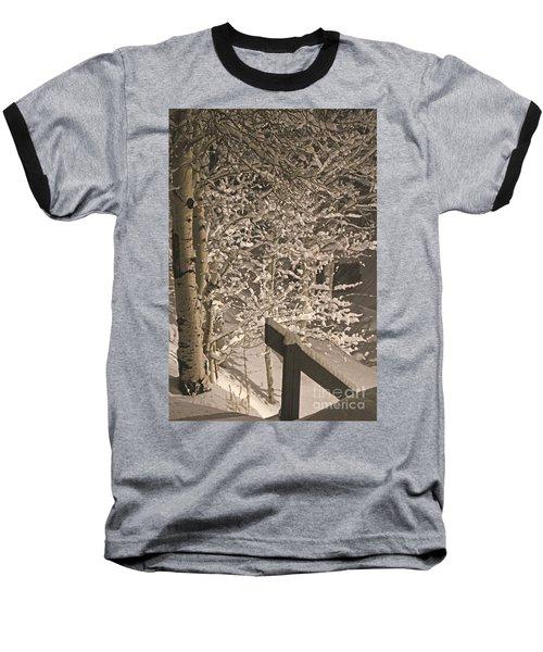 Baseball T-Shirt featuring the photograph Peaceful Blizzard by Fiona Kennard
