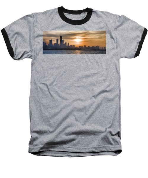 Peaceful Chicago Baseball T-Shirt by John Hansen