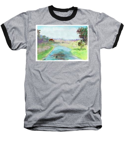 Peaceful Day Baseball T-Shirt by C Sitton