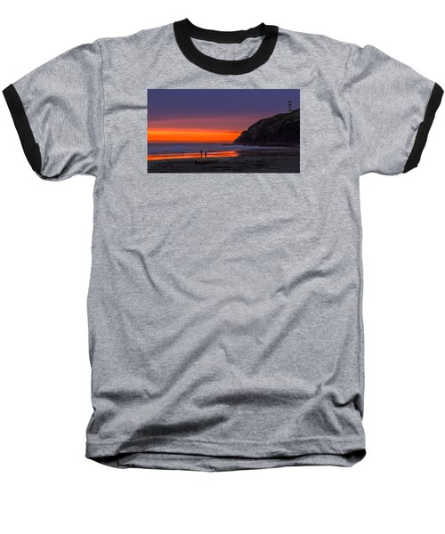 Peaceful Evening Baseball T-Shirt by Robert Bales
