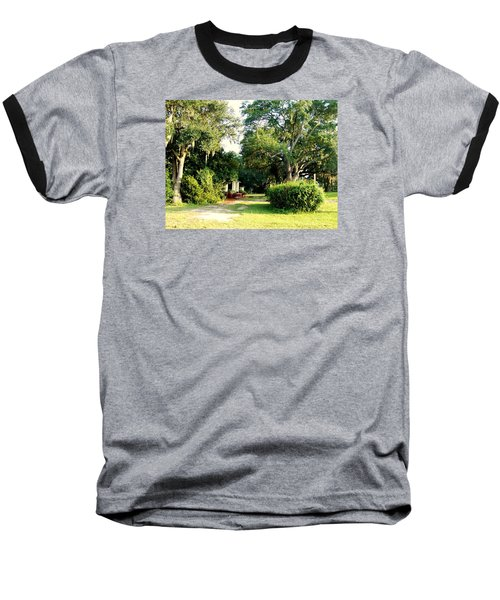 Peaceful Morning Baseball T-Shirt by Catherine Gagne