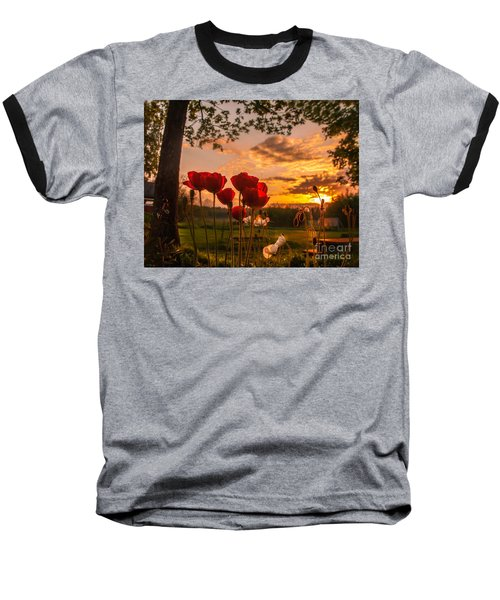 Peaceful Poppy Baseball T-Shirt
