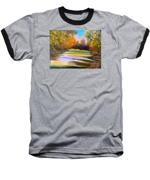 Peaceful River Baseball T-Shirt