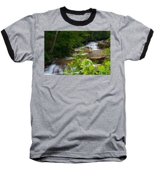 Peaceful Stockbridge Falls  Baseball T-Shirt by Dave Files