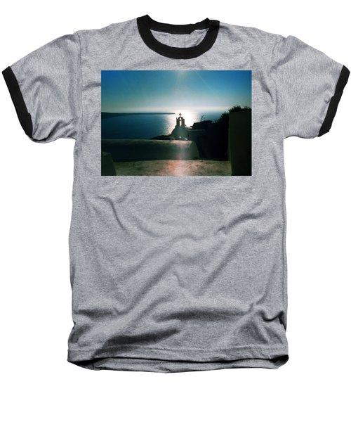 Baseball T-Shirt featuring the photograph Peaceful Sunset Santorini Island Greece by Colette V Hera  Guggenheim