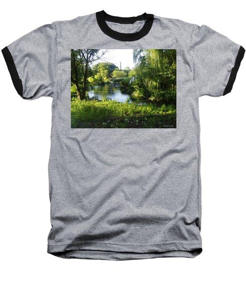 Peaceful Waters Baseball T-Shirt by Verana Stark