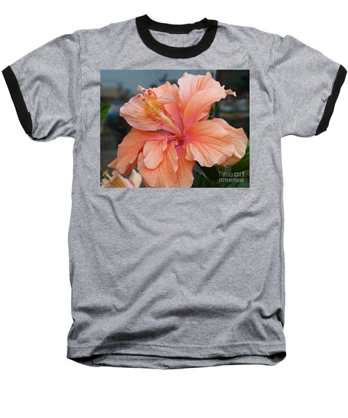 Baseball T-Shirt featuring the photograph Peach And Cream by Lingfai Leung