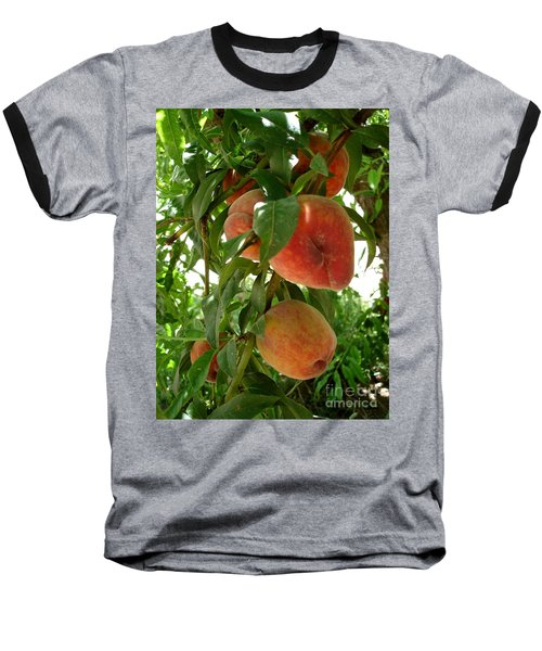 Baseball T-Shirt featuring the photograph Peaches On The Tree by Kerri Mortenson