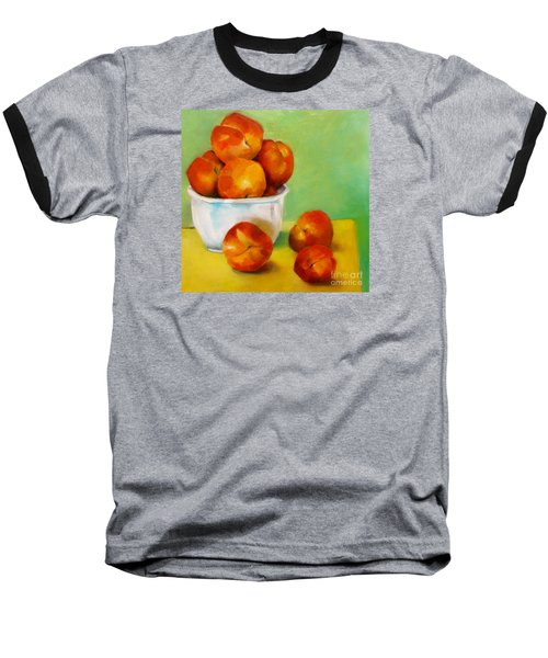 Baseball T-Shirt featuring the painting Peachy Keen by Michelle Abrams