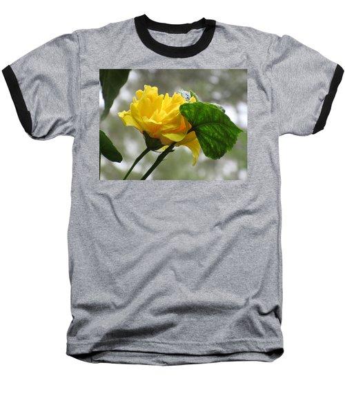 Peachy Yellow Surprise Baseball T-Shirt