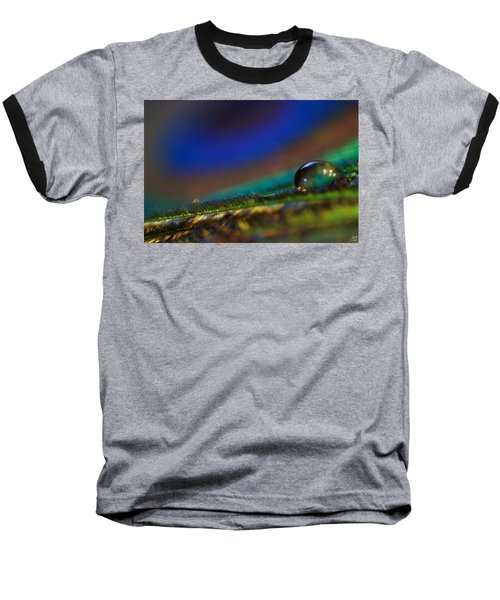 Peacock Drop Baseball T-Shirt