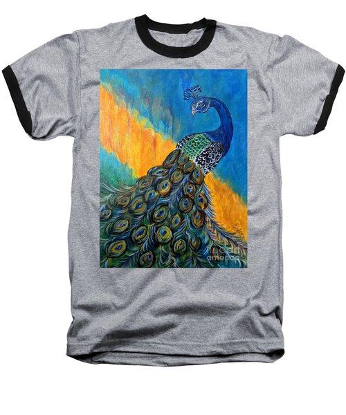 Peacock Waltz #3 Baseball T-Shirt