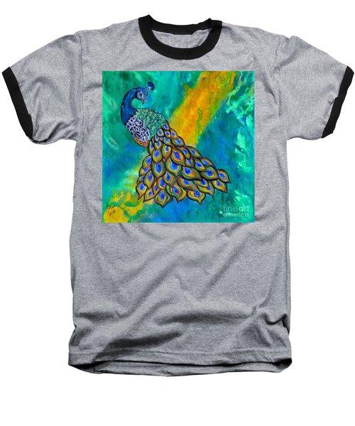Peacock Waltz II Baseball T-Shirt